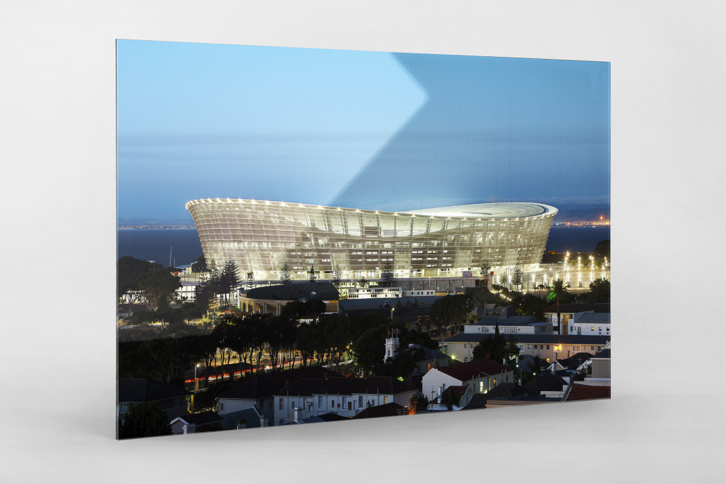 Cape Town Stadium erleuchtet als Direktdruck auf Alu-Dibond hinter Acrylglas