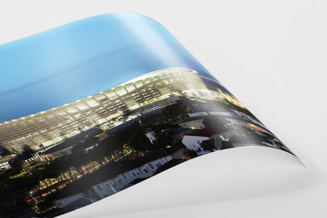 Cape Town Stadium erleuchtet als FineArt-Print