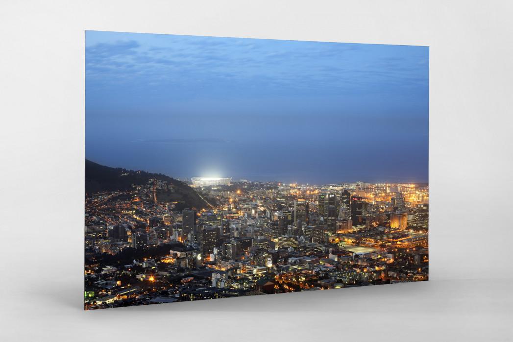 Cape Town Stadium und Skyline als auf Alu-Dibond kaschierter Fotoabzug