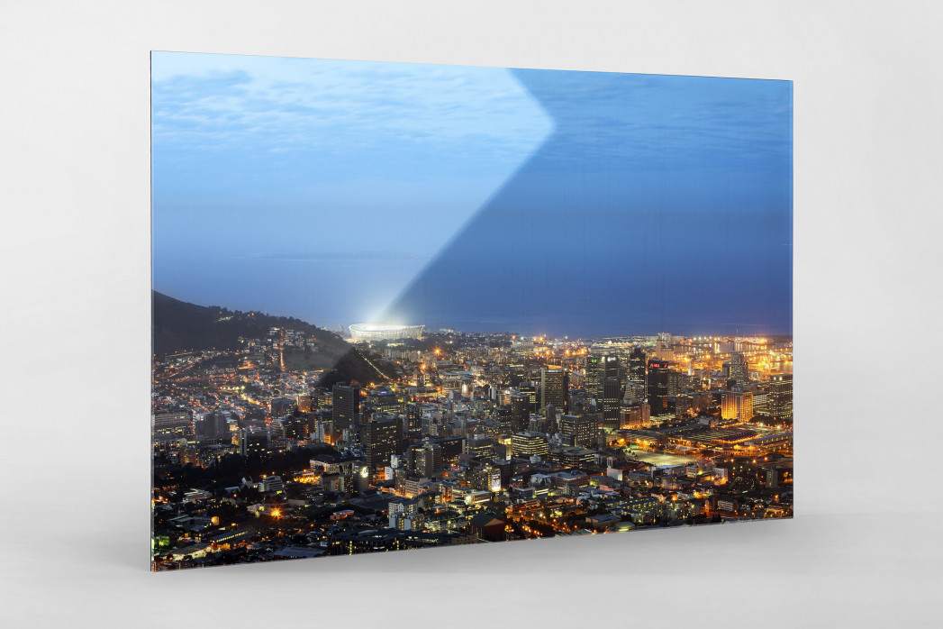 Cape Town Stadium und Skyline als Direktdruck auf Alu-Dibond hinter Acrylglas