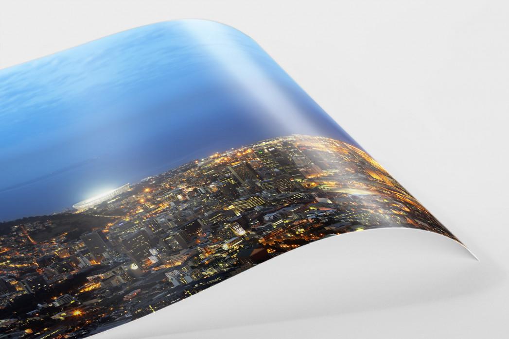 Cape Town Stadium und Skyline als FineArt-Print