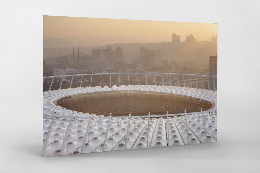 Dach vom Olympiastadion Kiew als auf Alu-Dibond kaschierter Fotoabzug