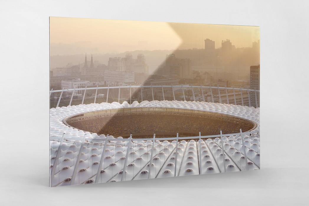 Dach vom Olympiastadion Kiew als Direktdruck auf Alu-Dibond hinter Acrylglas
