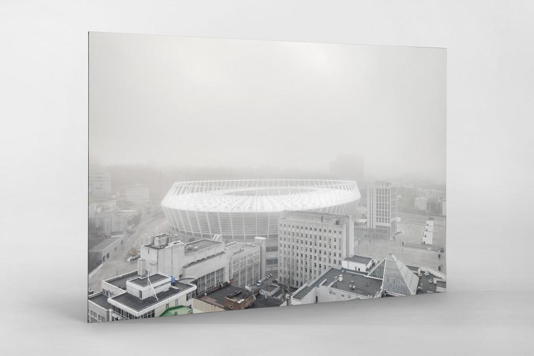 Smog in Kiew als auf Alu-Dibond kaschierter Fotoabzug