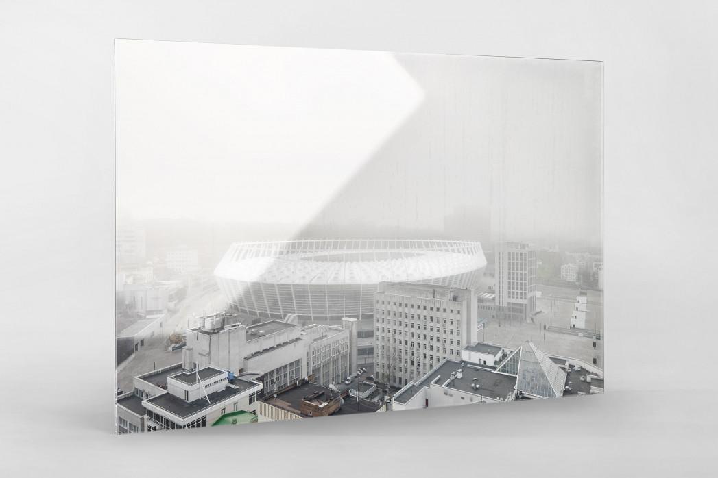 Smog in Kiew als Direktdruck auf Alu-Dibond hinter Acrylglas