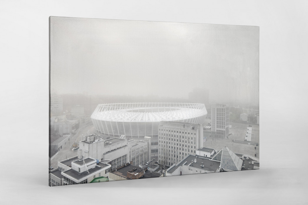 Smog in Kiew als Leinwand auf Keilrahmen gezogen