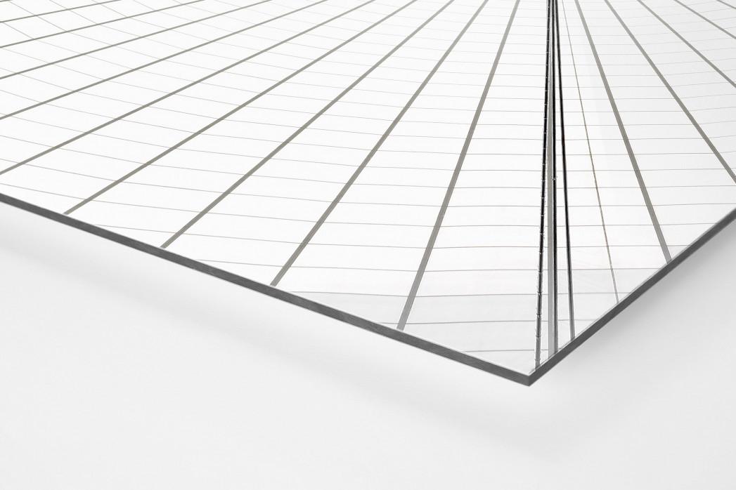 Dachkonstruktion im Nationalstadion Warschau als auf Alu-Dibond kaschierter Fotoabzug (Detail)