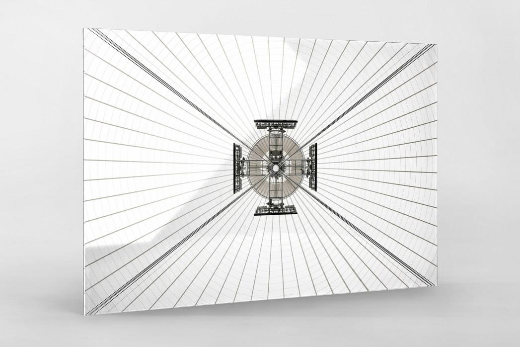 Dachkonstruktion im Nationalstadion Warschau als Direktdruck auf Alu-Dibond hinter Acrylglas