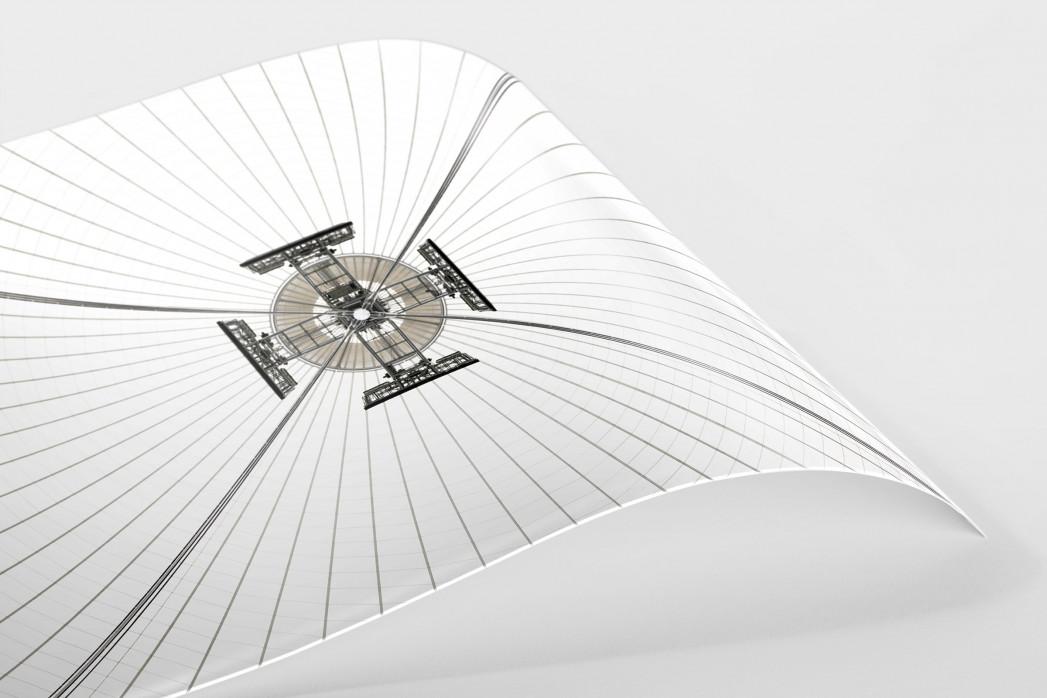 Dachkonstruktion im Nationalstadion Warschau als FineArt-Print