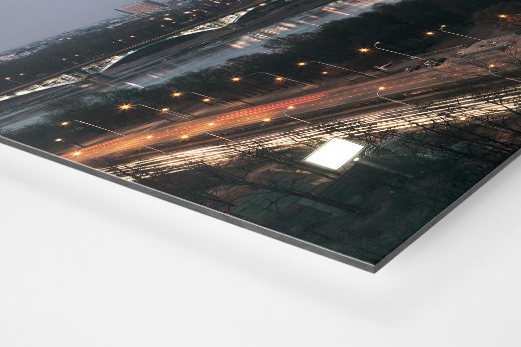 Nationalstadion Warschau am Abend als auf Alu-Dibond kaschierter Fotoabzug (Detail)