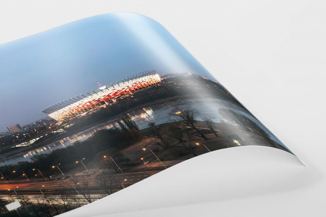 Nationalstadion Warschau am Abend als FineArt-Print