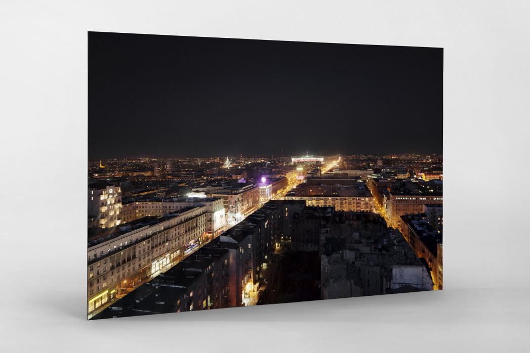 Nationalstadion Warschau bei Nacht als auf Alu-Dibond kaschierter Fotoabzug