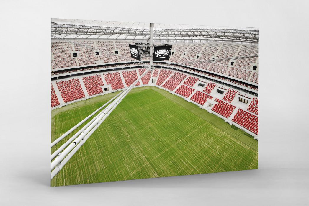 Nationalstadion Warschau von oben als auf Alu-Dibond kaschierter Fotoabzug