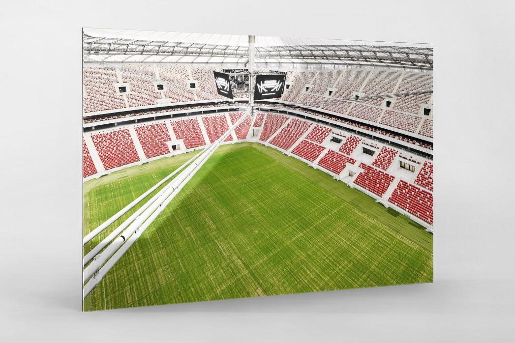 Nationalstadion Warschau von oben als Direktdruck auf Alu-Dibond hinter Acrylglas