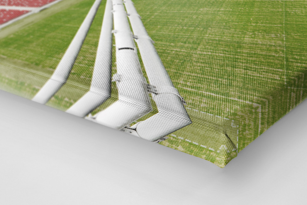 Nationalstadion Warschau von oben als Leinwand auf Keilrahmen gezogen (Detail)