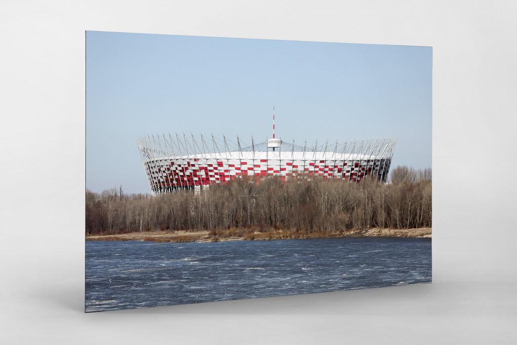 Vor dem Nationalstadion Warschau als auf Alu-Dibond kaschierter Fotoabzug
