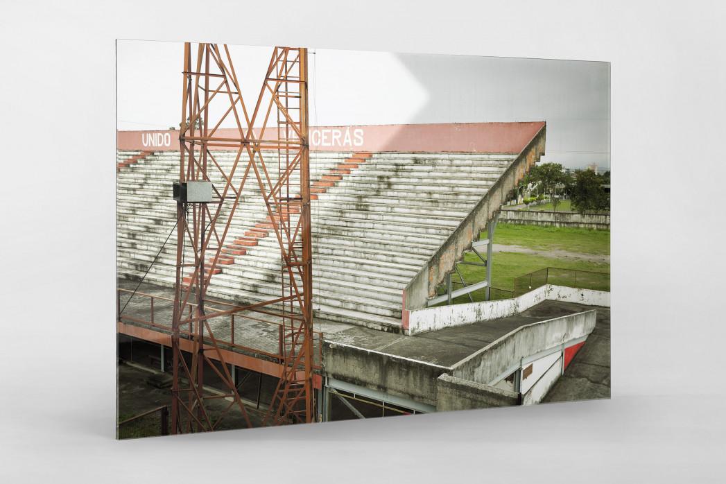 Tribüne im Stadion Giulite Coutinho als Direktdruck auf Alu-Dibond hinter Acrylglas