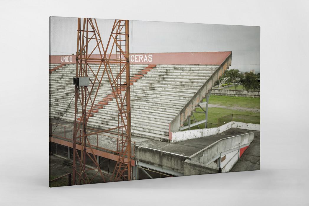 Tribüne im Stadion Giulite Coutinho als Leinwand auf Keilrahmen gezogen