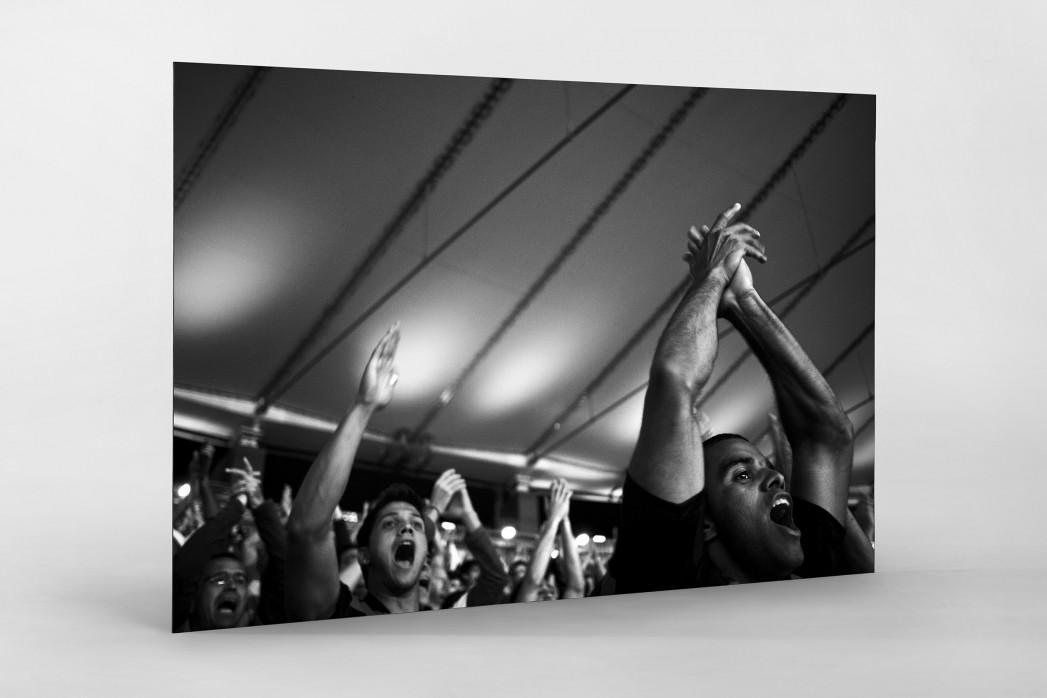 Fans im Maracanã als auf Alu-Dibond kaschierter Fotoabzug
