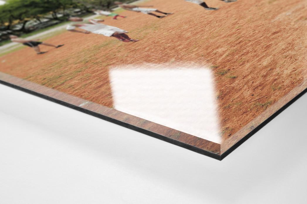 Bolzplatz im Park  als Direktdruck auf Alu-Dibond hinter Acrylglas (Detail)