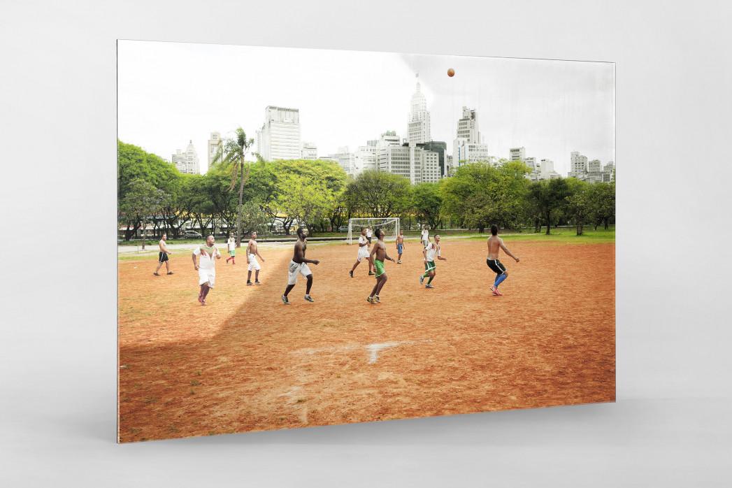 Bolzplatz im Park  als Direktdruck auf Alu-Dibond hinter Acrylglas