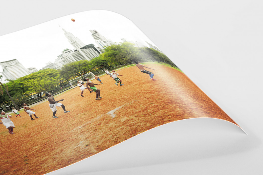 Bolzplatz im Park  als FineArt-Print