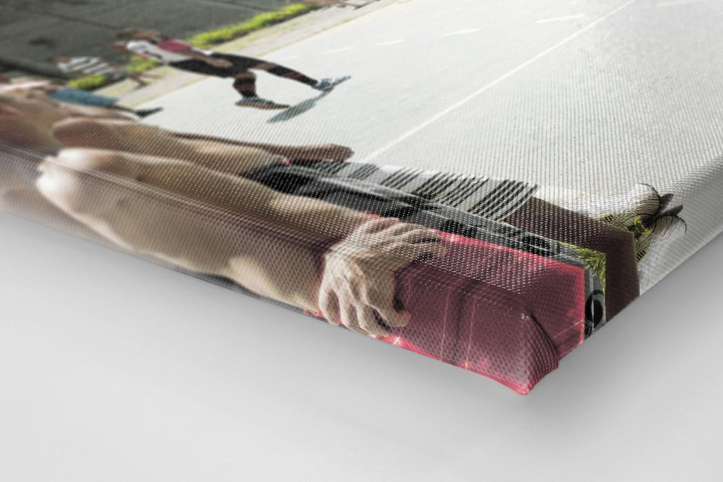 Kicken im Knast als Leinwand auf Keilrahmen gezogen (Detail)