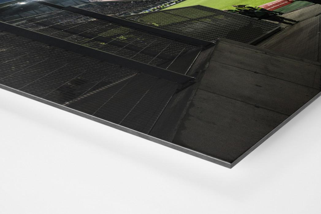 Blick in das Stadion Essen als auf Alu-Dibond kaschierter Fotoabzug (Detail)