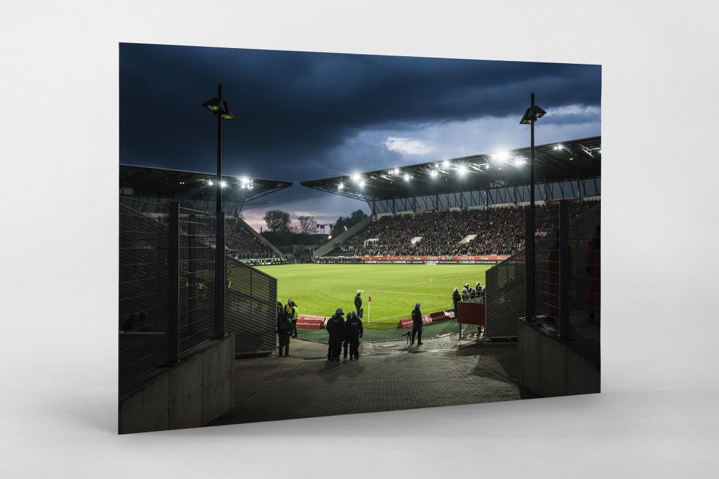 Blick in das Stadion Essen als auf Alu-Dibond kaschierter Fotoabzug