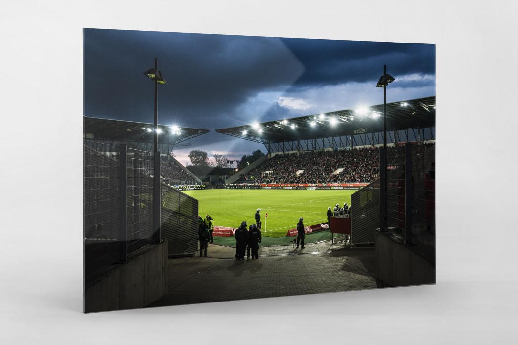 Blick in das Stadion Essen als Direktdruck auf Alu-Dibond hinter Acrylglas