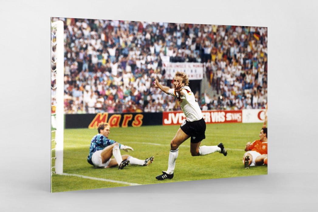 Klinsmann gegen Holland (1) als Direktdruck auf Alu-Dibond hinter Acrylglas