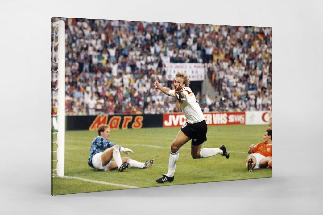 Klinsmann gegen Holland (1) als Leinwand auf Keilrahmen gezogen