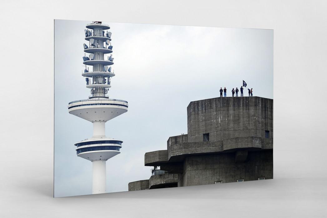 St. Pauli Bunker als auf Alu-Dibond kaschierter Fotoabzug