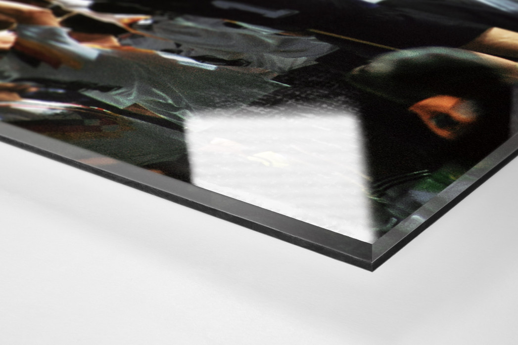 WM-Jubel (2) als Direktdruck auf Alu-Dibond hinter Acrylglas (Detail)