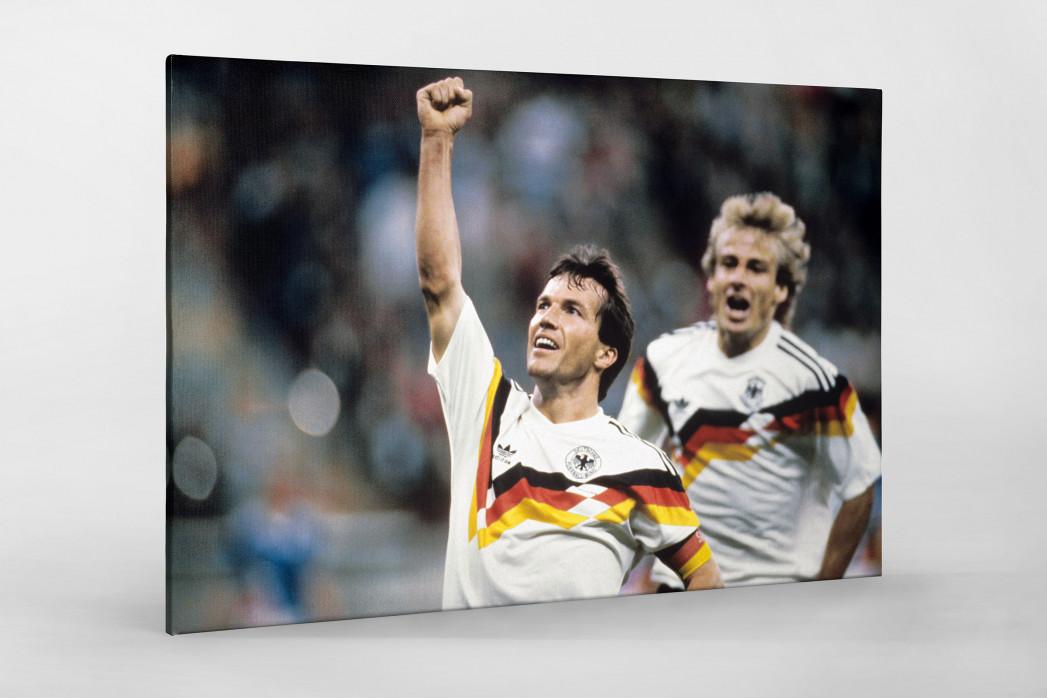 Lothar und Klinsi als Leinwand auf Keilrahmen gezogen