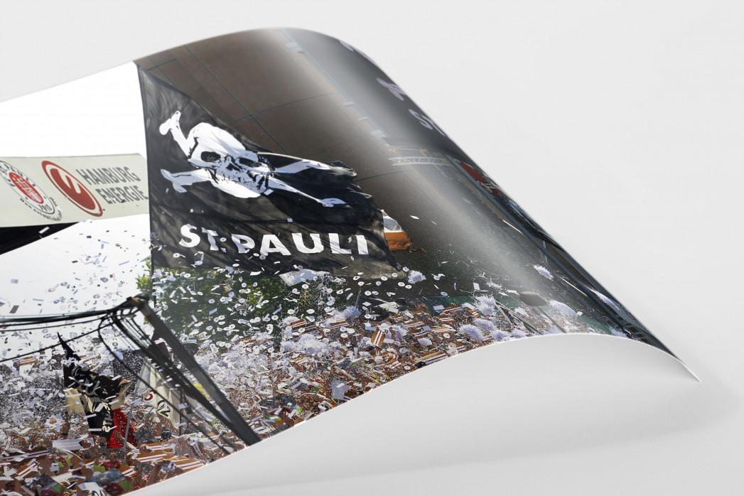 St. Pauli Fankurve als FineArt-Print
