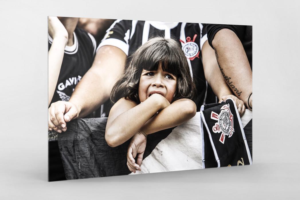 Young Girl At The Stadium als Direktdruck auf Alu-Dibond hinter Acrylglas