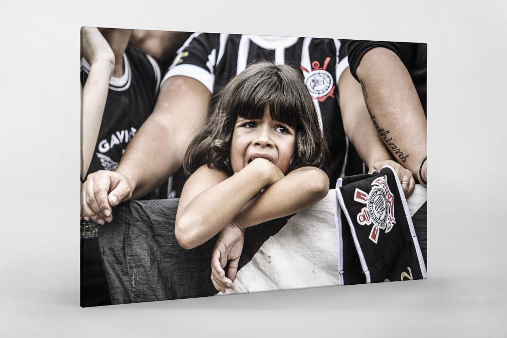 Young Girl At The Stadium als Leinwand auf Keilrahmen gezogen