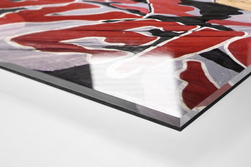 Fans And Flags als Direktdruck auf Alu-Dibond hinter Acrylglas (Detail)
