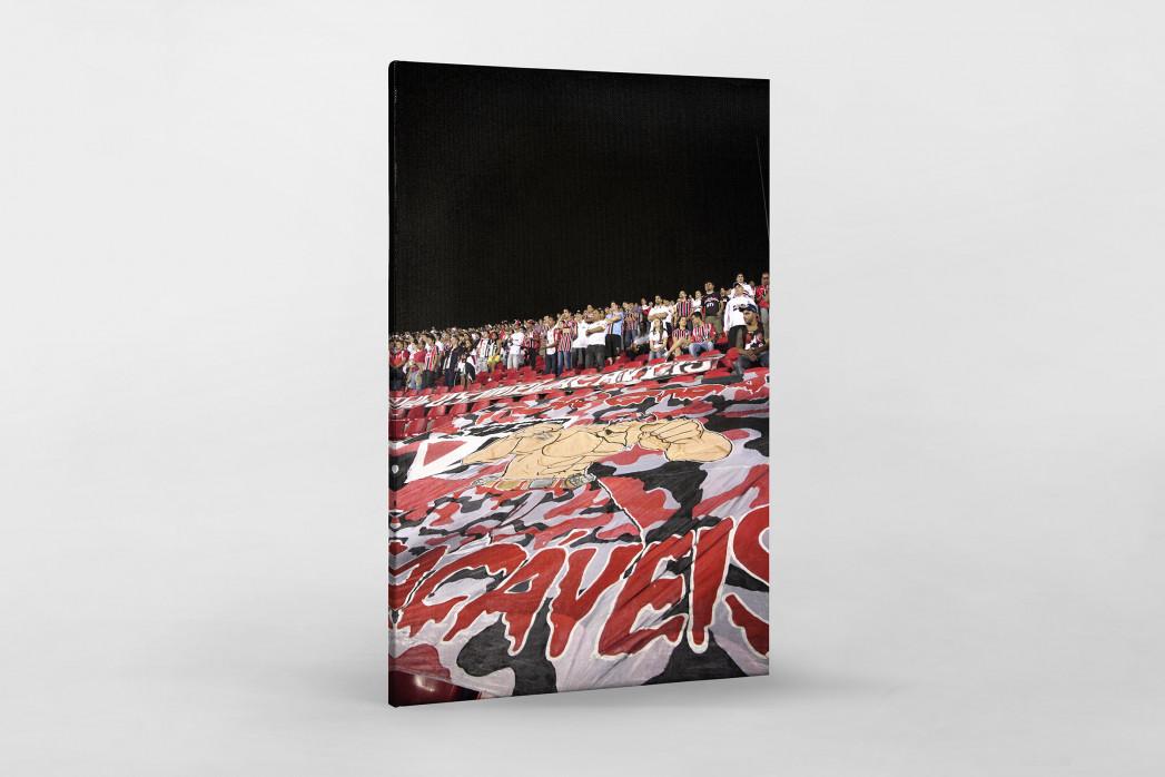 Fans And Flags als Leinwand auf Keilrahmen gezogen