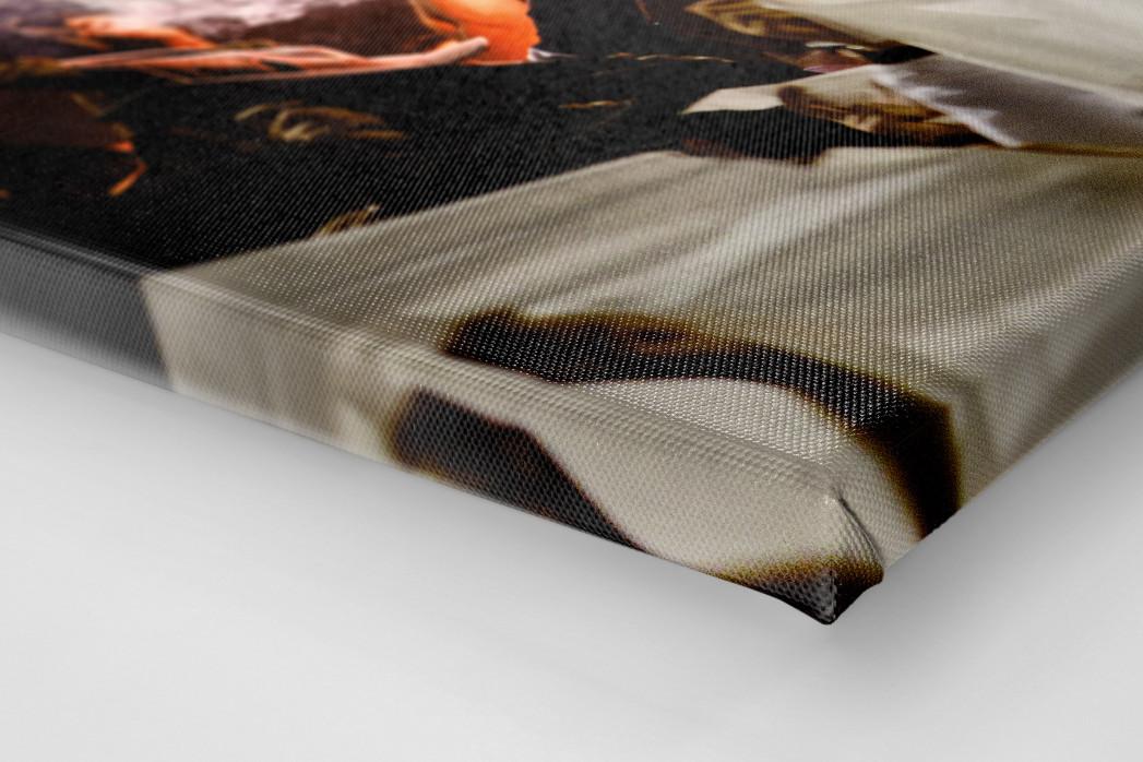 Pyro And Flares als Leinwand auf Keilrahmen gezogen (Detail)