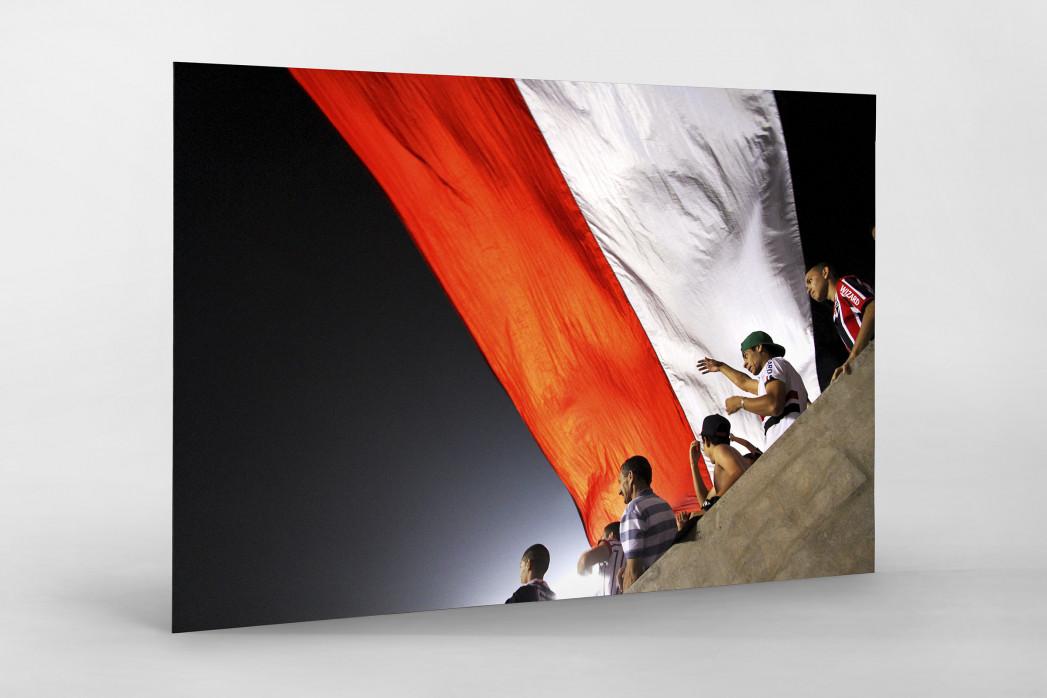 FC São Paulo Fans And Flags als auf Alu-Dibond kaschierter Fotoabzug