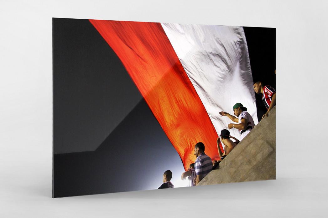 FC São Paulo Fans And Flags als Direktdruck auf Alu-Dibond hinter Acrylglas