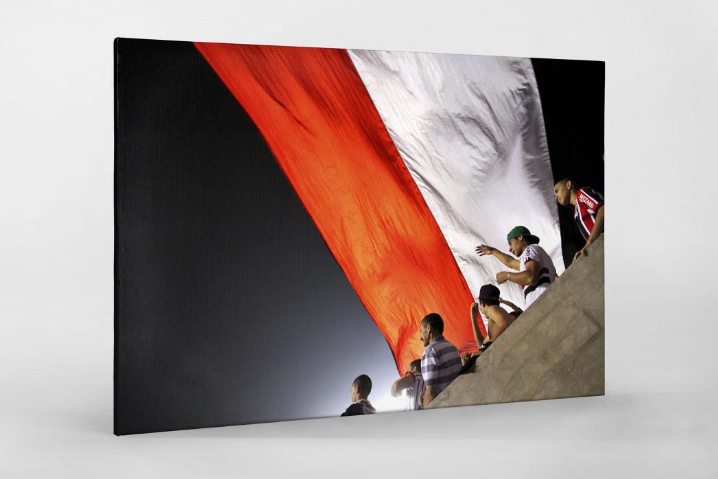 FC São Paulo Fans And Flags als Leinwand auf Keilrahmen gezogen