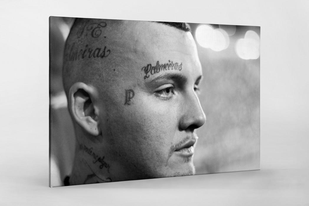 Tattooed Palmeiras Fan als Leinwand auf Keilrahmen gezogen