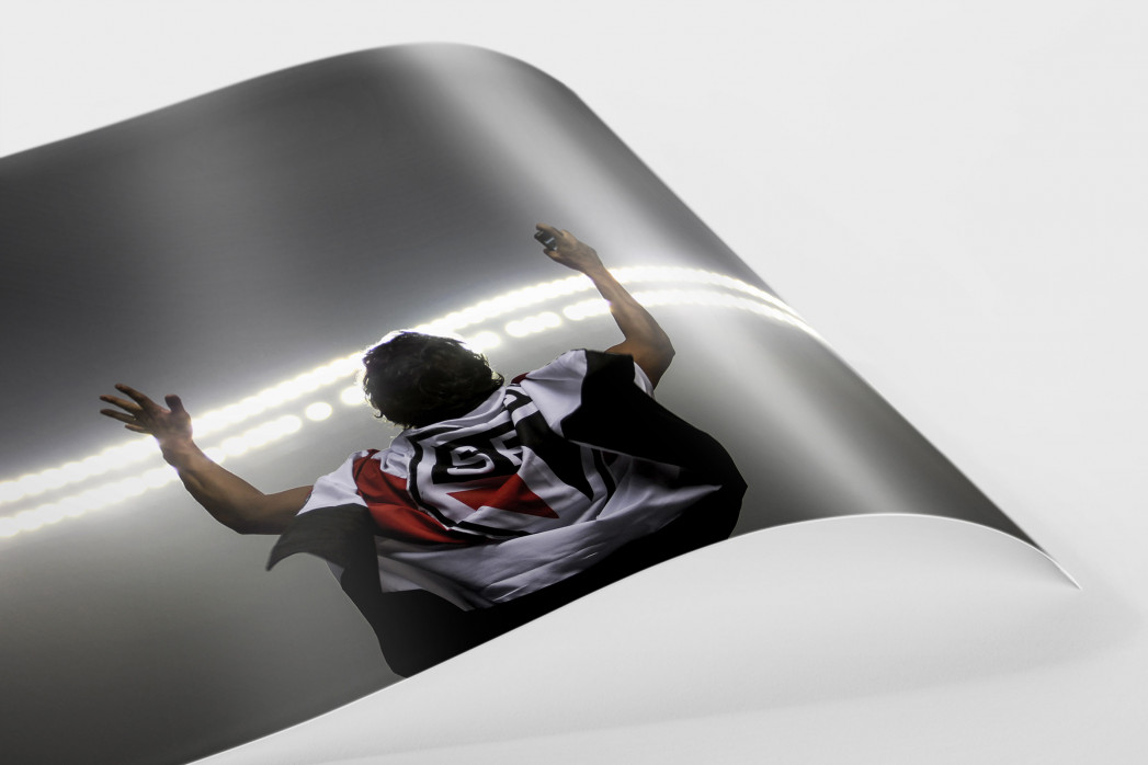 FC São Paulo Fan Celebrating als FineArt-Print