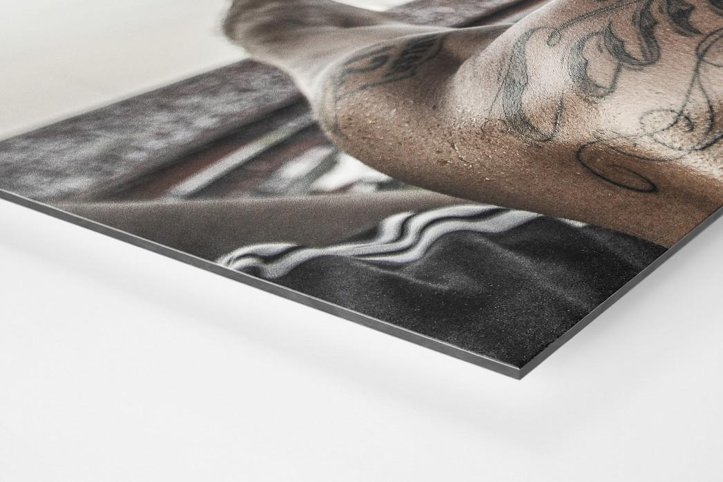 Tattooed Corinthians Fan als auf Alu-Dibond kaschierter Fotoabzug (Detail)