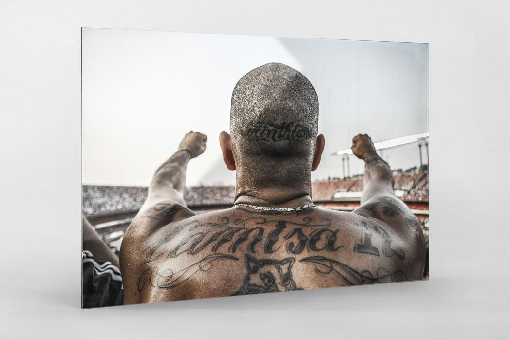 Tattooed Corinthians Fan als Direktdruck auf Alu-Dibond hinter Acrylglas