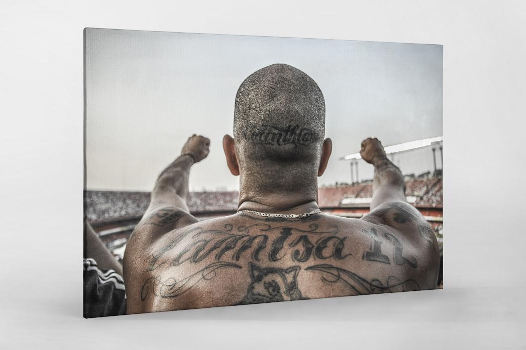 Tattooed Corinthians Fan als Leinwand auf Keilrahmen gezogen