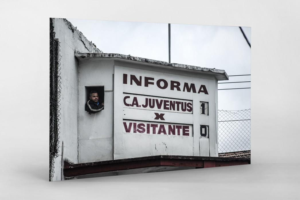 Oldschool Scoreboard als auf Alu-Dibond kaschierter Fotoabzug